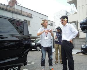 Harunasan and Shouji in parking.JPG