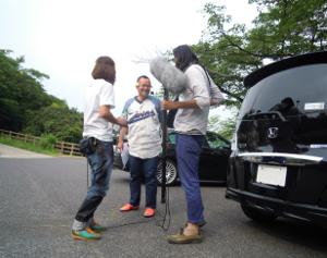 Shouji Kusada Hadasan at parking.JPG