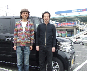 shouji and funaoka front of nbox.JPG